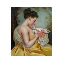 Obraz - Dívka s holubicí