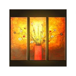 Vícedílné obrazy - Váza s květy