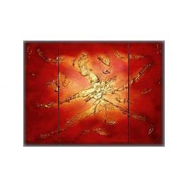 Vícedílné obrazy - Zlatá abstrakce