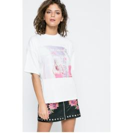 Missguided - Top Printed Be There In 5 Mins Barbie x Missguided