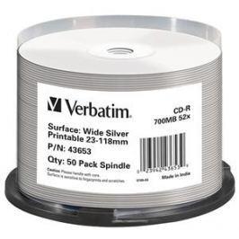 Verbatim CD-R DataLife Protection 52x, Printable 50ks cakebox