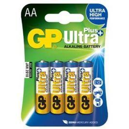 Baterie alkalická, AA, 1.5V, GP, blistr, 4-pack, ultra plus, cena za 1 ks baterie