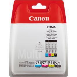Náplň do tiskárny Canon CLI-571 Bk /C /M /Y, Multi pack, 0386C005 - originál