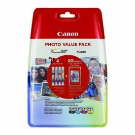 Canon CLI-521 CMYK Pack + 50 listů papíru - originál